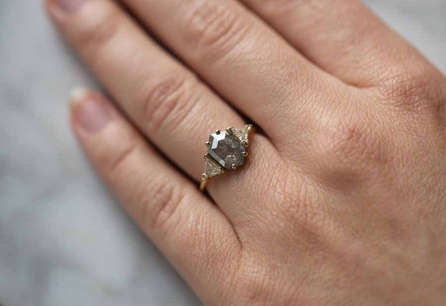 Giddy Over Gray 11 Gray Diamond Engagement Rings We Love