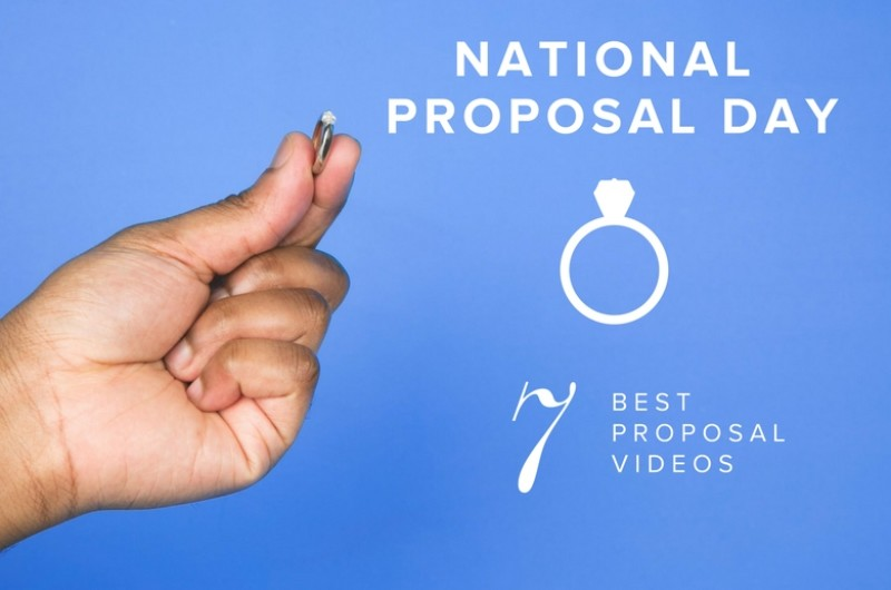 Image for We're Celebrating National Proposal Day by Cry-Watching Our Favorite Proposal Videos