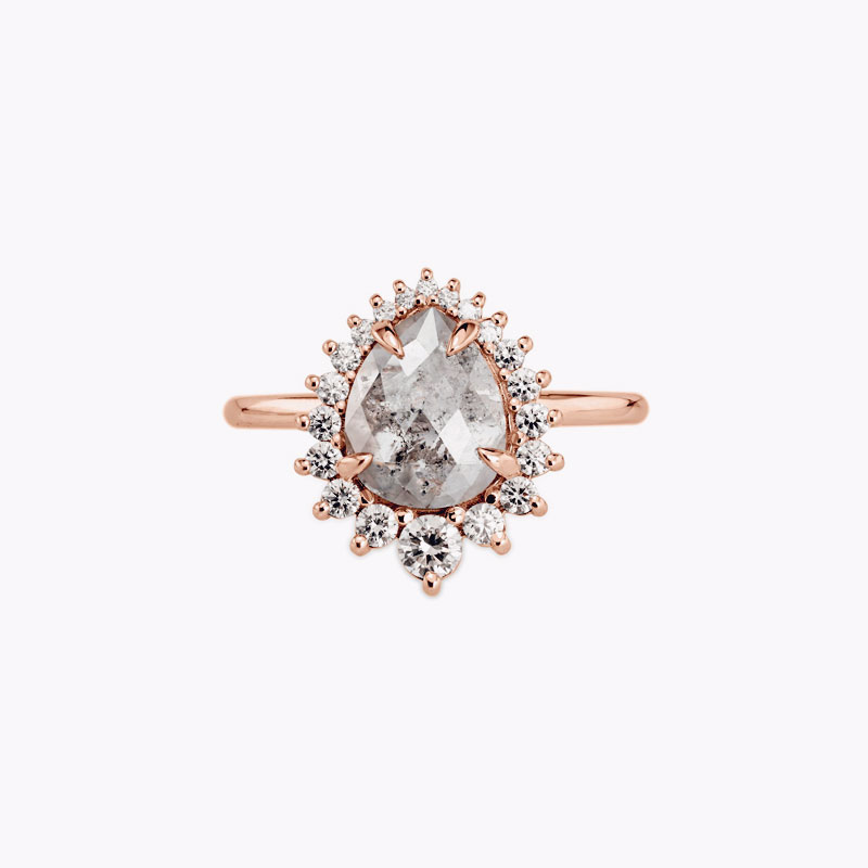 rose-gold-pear-shaped-gray-diamond-engagement-ring