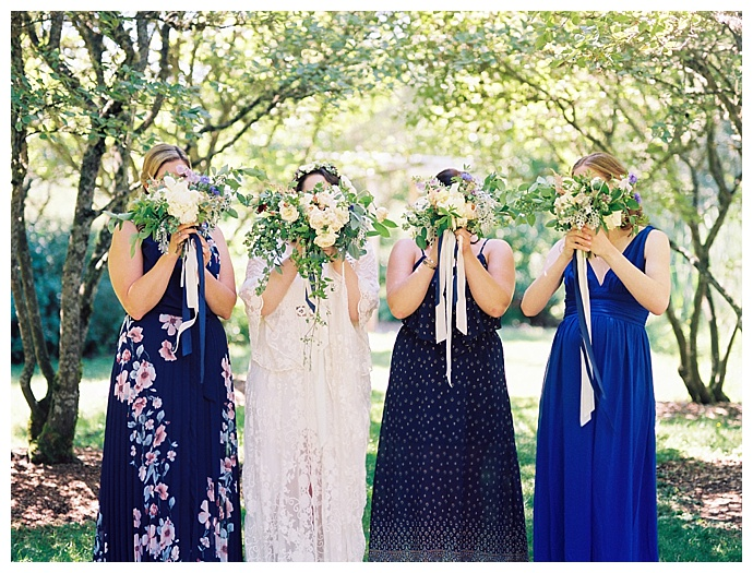 alexandra-knight-photography-blue-mix-and-match-print-bridesmaids-dresses