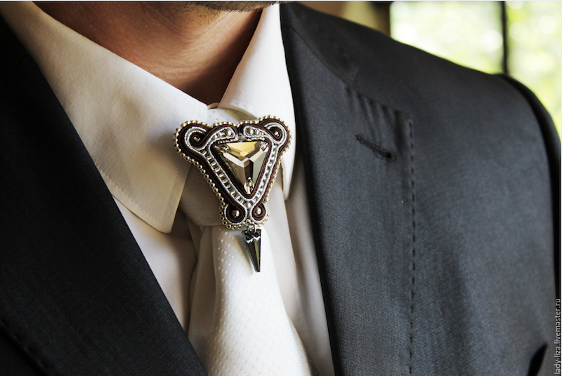 Brooch On a Tie