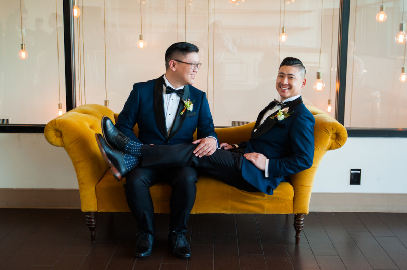 Image for James and Mark's Navy and Copper Wedding at The Colony House