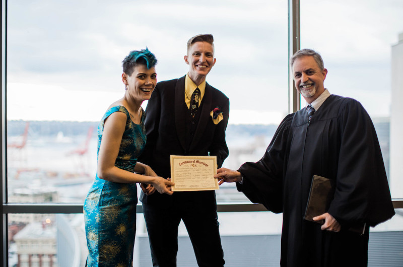 Image for Shawna and Lacey's Intimate Seattle Courthouse Elopement