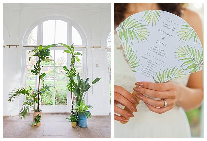 monstera-leaf-ceremony-arch-amanda-karen-photography
