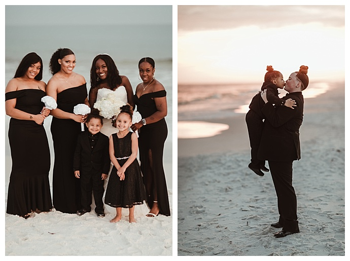 off-the-shoulder-black-bridesmaids-dresses-naba-zabih-photography