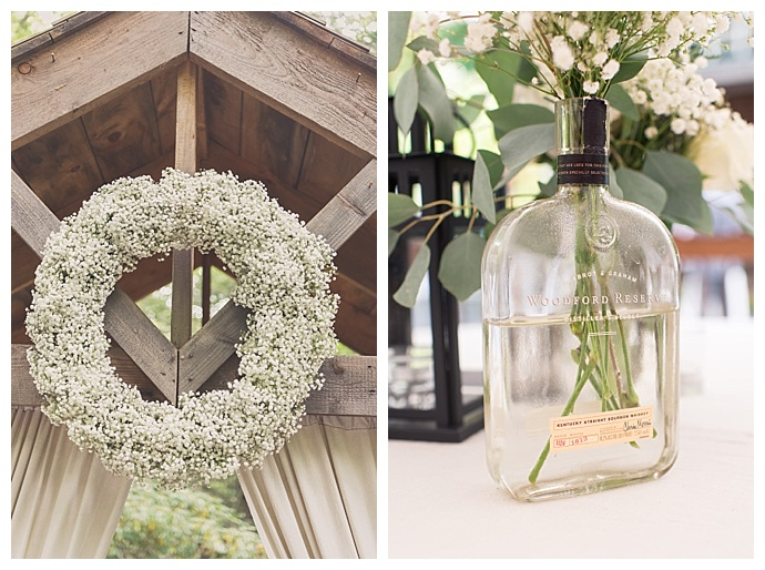 whiskey bottle wedding decor