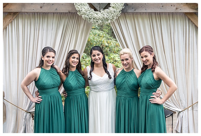 emerald bridesmaid dresses