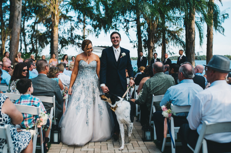 Image for Ashley and Michael's Blush and Navy Lakeside Wedding