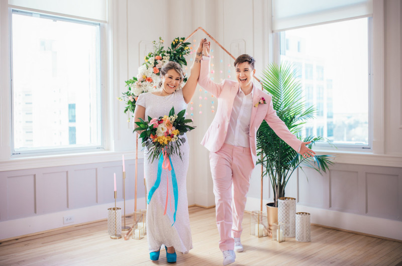 Image for A Colorful Palm Springs Inspired Wedding Inspiration Shoot