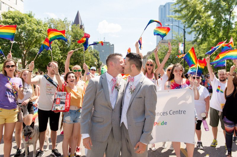 Image for Todd and Dalton's London Ontario Pride Parade Wedding