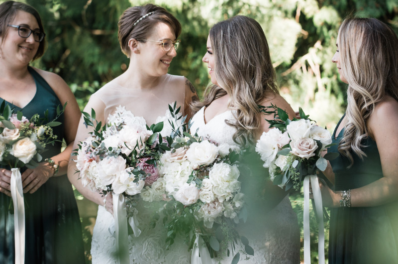 Image for Alexis and Danielle's Intimate Garden Wedding at DeLille Cellars