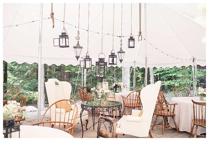 hanging lantern wedding decor