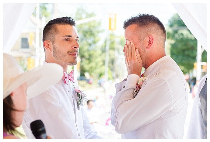 gay wedding emotional ceremony photo