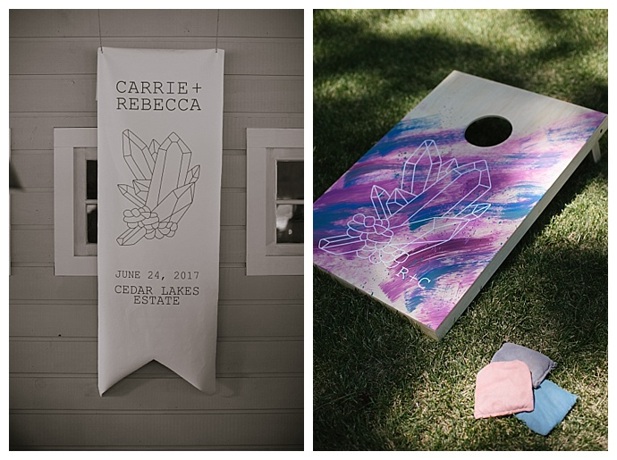 gemstone wedding signs