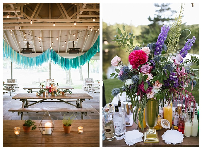 hanging tassel wedding decor
