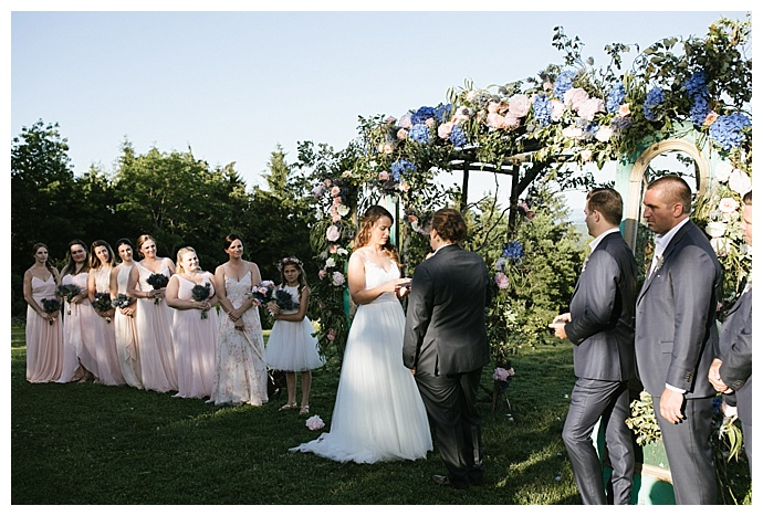 vintage door ceremony backdrop