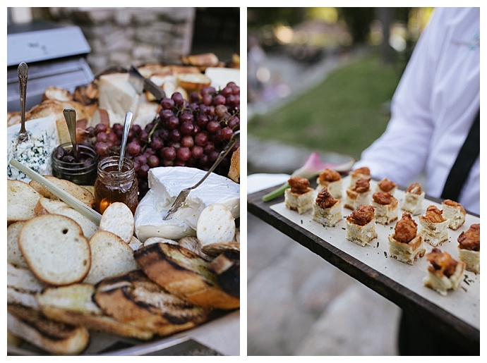 wedding cheese and cracker spread