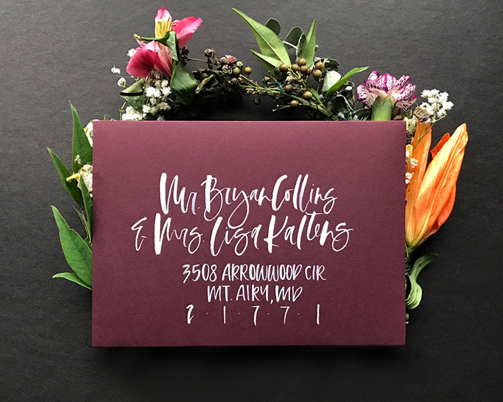 Creative Envelope Styles To Inspire Your Hand Lettered Wedding