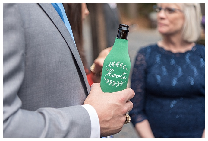 personalized wedding beer coller