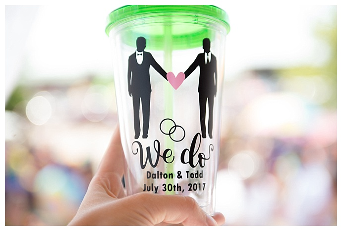 we do personalized wedding tumblers