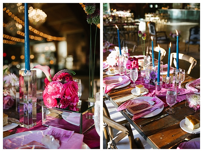 pink geode wedding inspiration