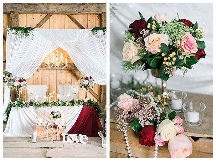 rustic glam head table