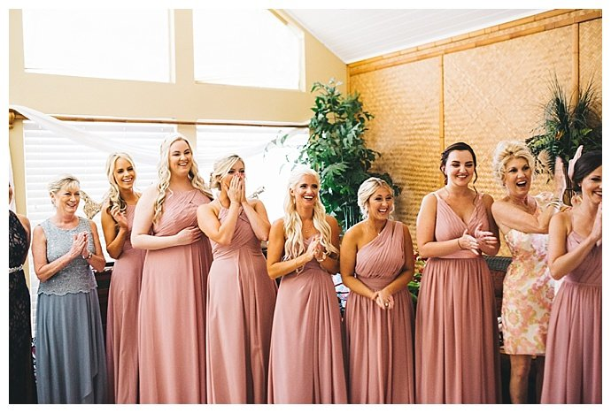 same color different style bridesmaids dresses