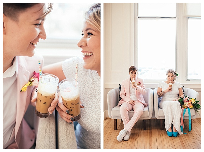 colorful lgbt styled shoot