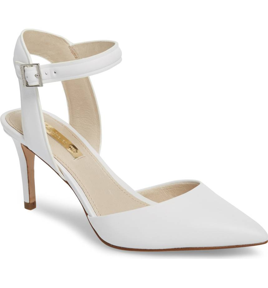 white-ankle-strap-wedding-pointed-toe-pump