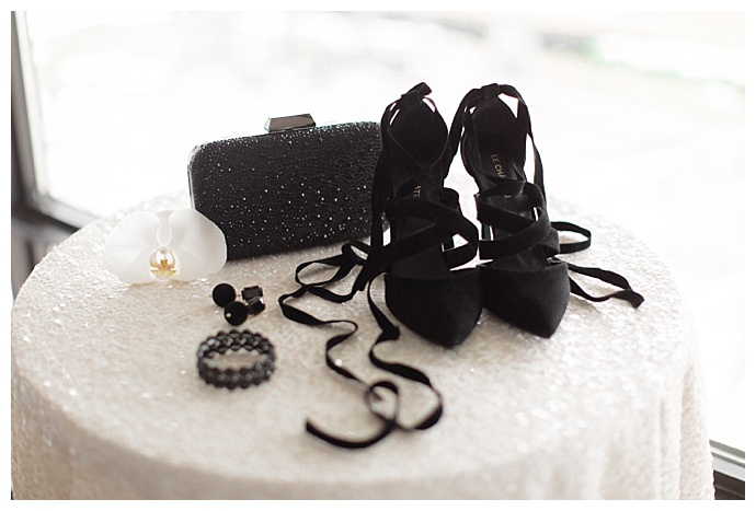 black wedding accessories