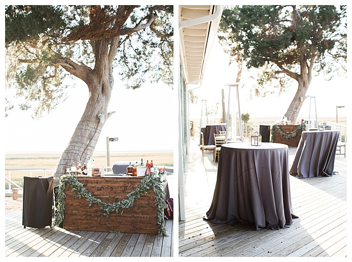 gray cocktail hour table decor