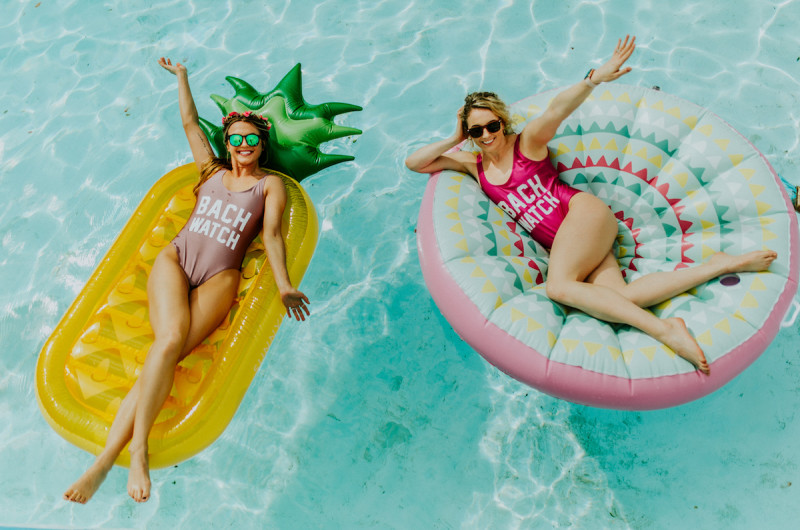 Image for A Chic Camp-Themed Bachelorette Pool Party Inspiration Shoot