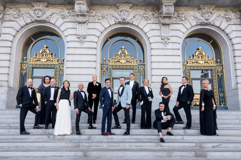 Image for Ray and Desmond's Elegant San Francisco City Hall Wedding