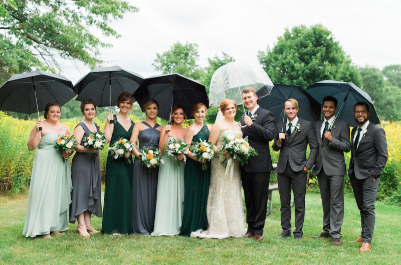 Image for Julie and Paul's Rainy and Romantic Wisconsin Wedding