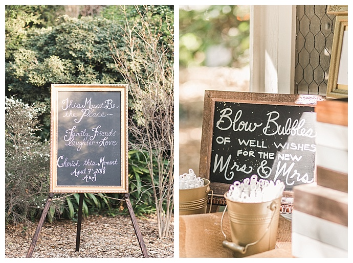 framed wedding signs