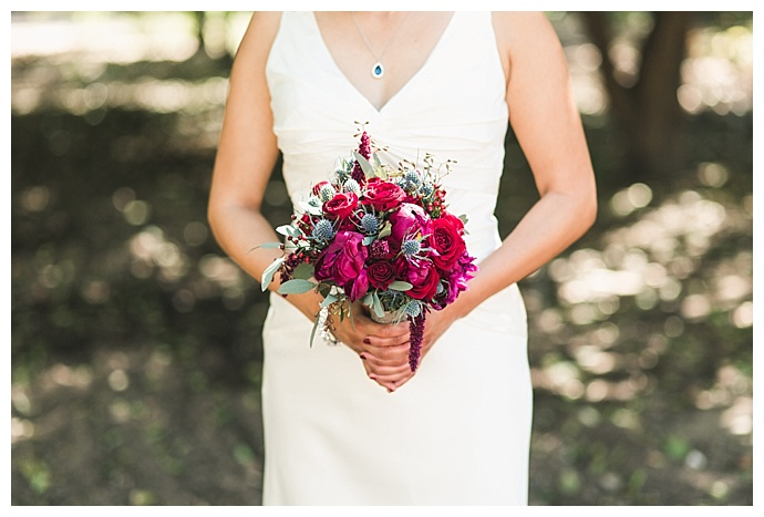 jewel toned wedding bouquet