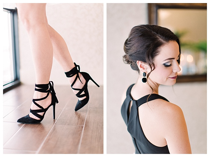 lace up black heels