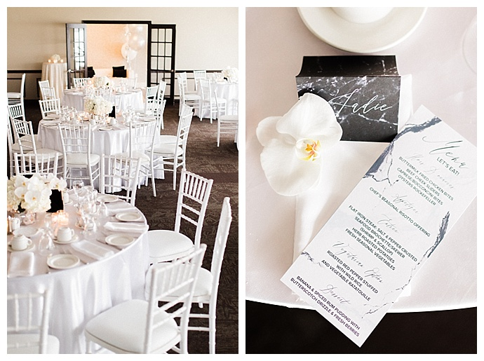 modern white engagement party inspiration