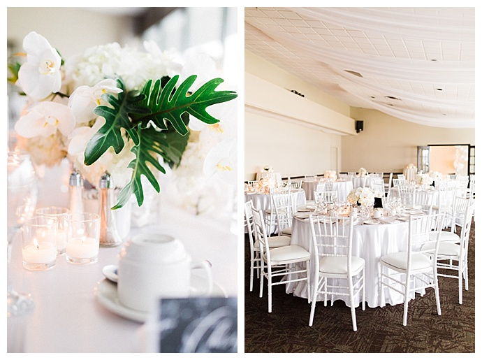 modern white wedding inspiration