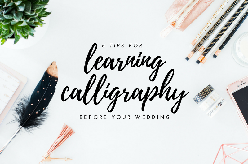 learning calligraphy for your wedding