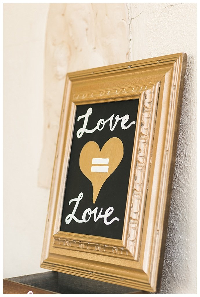 love is love wedding sign