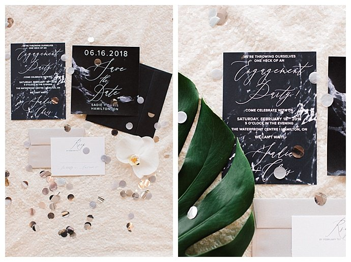 marble invitation suite