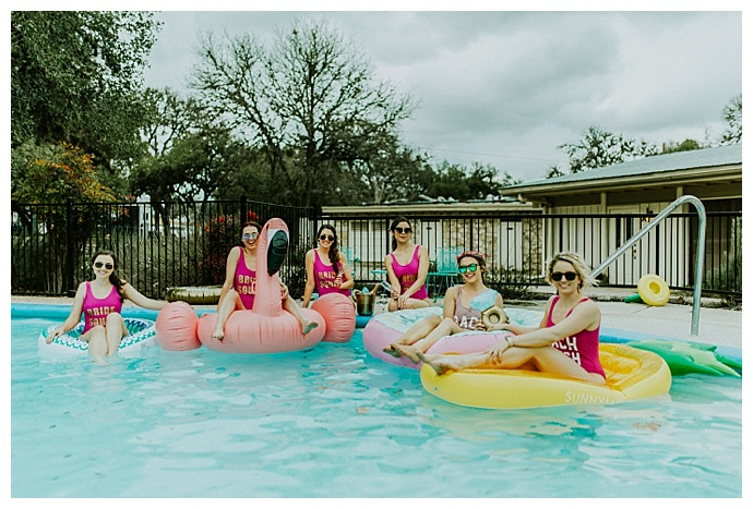 bachelorette pool party floats