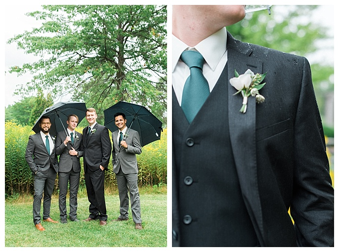 mismatched groomsmen suits