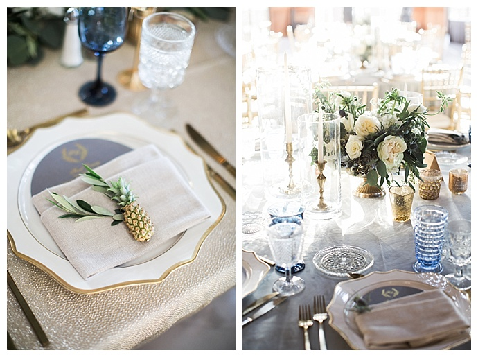 pineapple place settings