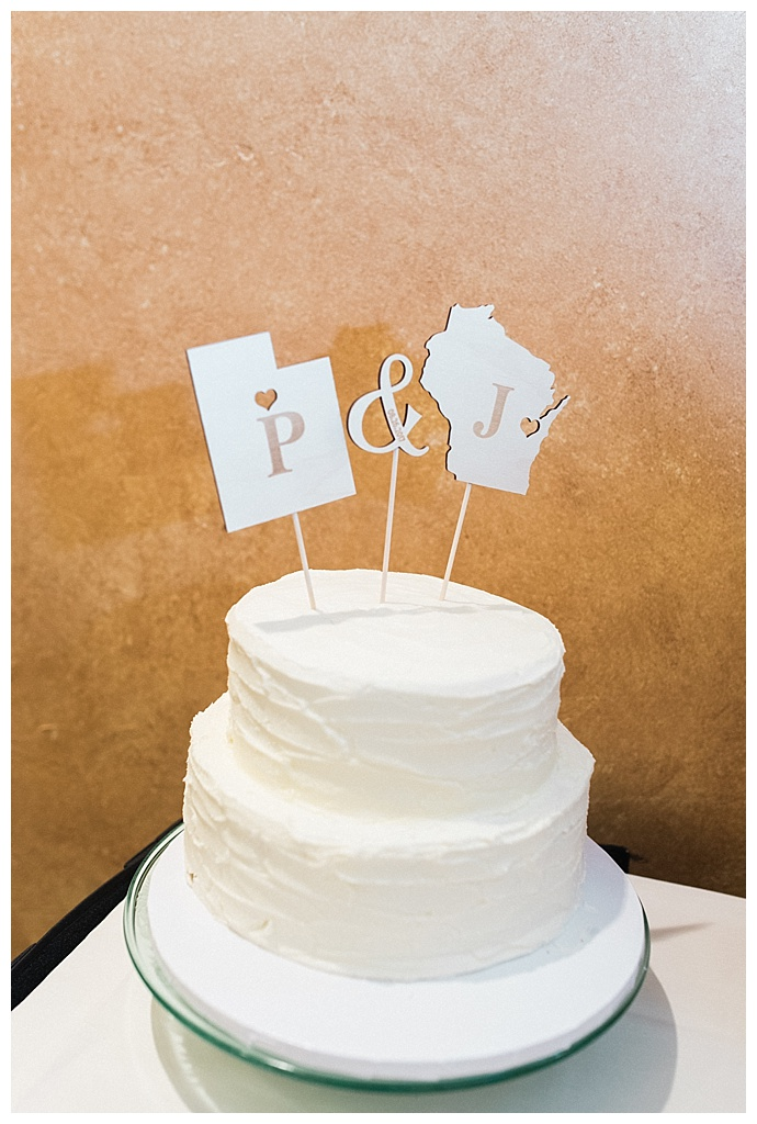 state wedding cake toppers