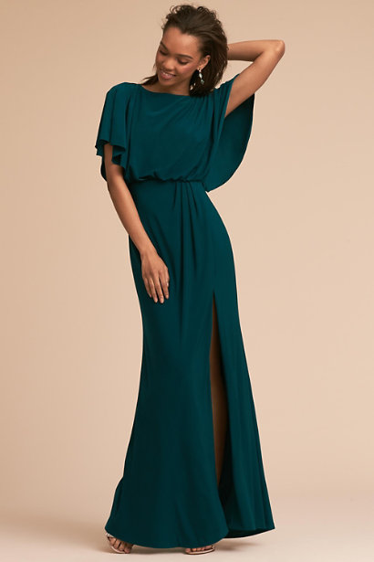 bridesmaid-dress-with-elbow-length-sleeves