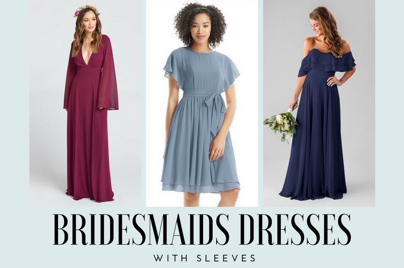 Image for 16 Stylish Bridesmaids Dresses with Sleeves