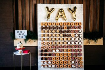 donuts about you wedding sign