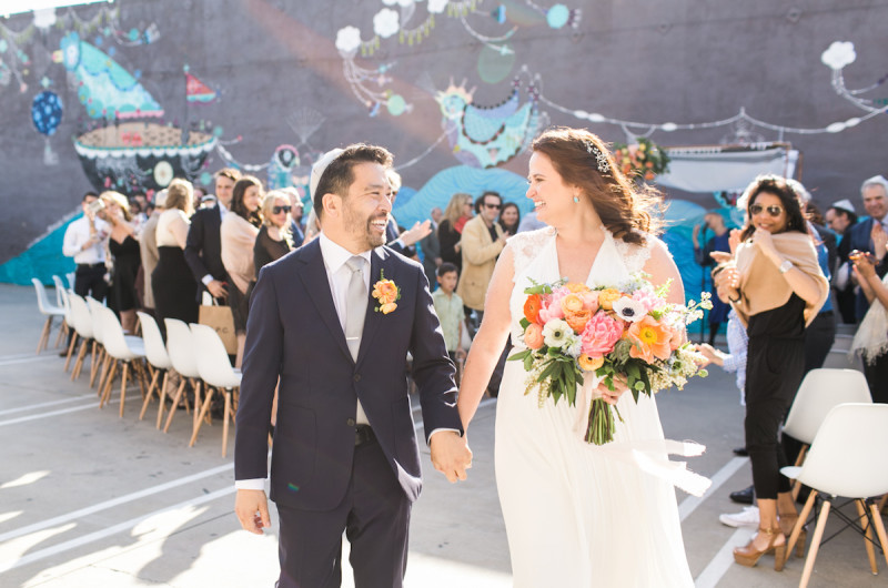 Image for Julie and Brian's Creative and Colorful Downtown LA Wedding